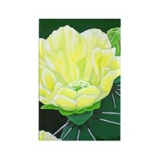 Cactus Flower Rectangle Magnet