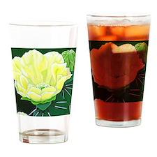 Cactus Flower Drinking Glass
