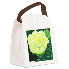 Cactus Flower Canvas Lunch Bag