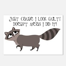 Raccoon copy.gif Postcards (Package of 8)