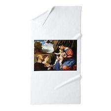 Madonna and Christ Child Beach Towel
