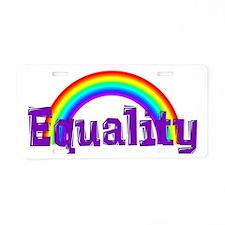 Equality Rainbow Aluminum License Plate