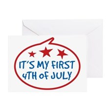 Babys First 4th of July Greeting Card