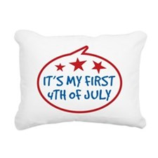 Babys First 4th of July Rectangular Canvas Pillow