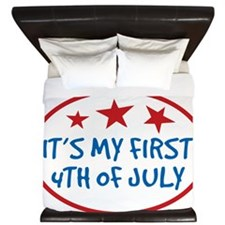 Babys First 4th of July King Duvet