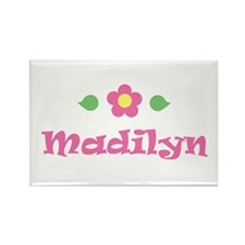 """Pink Daisy - """"Madilyn"""" Rectangle Magnet"""