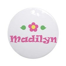 "Pink Daisy - ""Madilyn"" Ornament (Round)"
