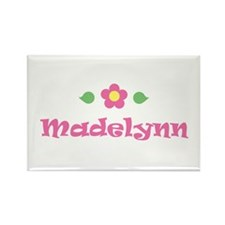 "Pink Daisy - ""Madelynn"" Rectangle Magnet"