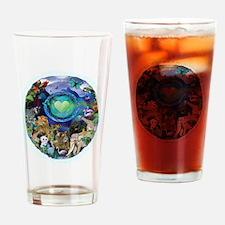 eci-planet_blktshirt Drinking Glass