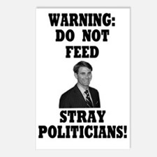 Do Not Feed Stray Politic Postcards (Package of 8)