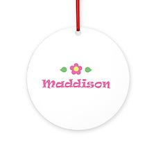 "Pink Daisy - ""Maddison"" Ornament (Round)"