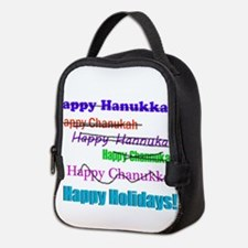 happyhanukkah.png Neoprene Lunch Bag