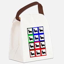 Pembroke Welsh Corgi Pattern Canvas Lunch Bag