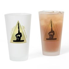 I Love Gymnastics triangle #8 Drinking Glass