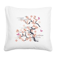 JAPANESE Blossom Square Canvas Pillow
