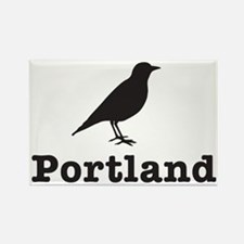 Black Portland Bird Rectangle Magnet