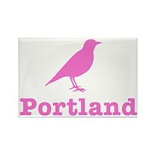 Pink Portland Bird Rectangle Magnet
