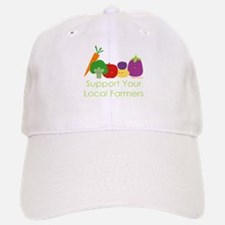 """Support Your Local Farmers"" Baseball Baseball Cap"