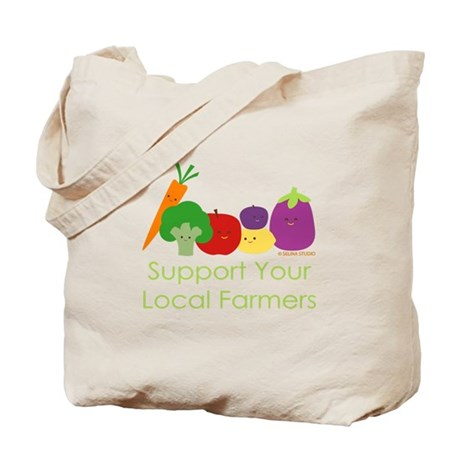 """Support Your Local Farmers"" Tote Bag"