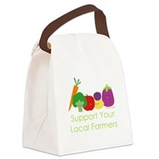 """""""Support Your Local Farmers"""" Canvas Lunch Bag"""