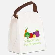 """Support Your Local Farmers"" Canvas Lunch Bag"