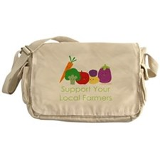 """""""Support Your Local Farmers"""" Messenger Bag"""