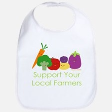 """""""Support Your Local Farmers"""" Bib"""