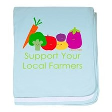 """""""Support Your Local Farmers"""" baby blanket"""
