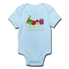 """Support Your Local Farmers"" Infant Bodysuit"