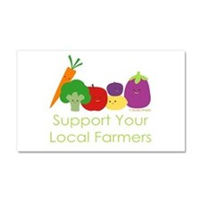 """Support Your Local Farmers"" Car Magnet 20 x 12"