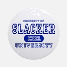 Slacker University Ornament (Round)