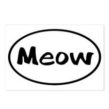 meow-euro Postcards (Package of 8)