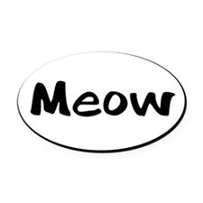 meow-euro Oval Car Magnet