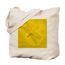 fossil_dragonfly_yellow Tote Bag