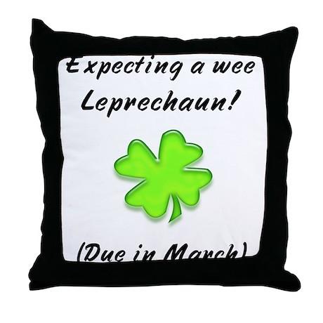 leprechaun baby due in march Throw Pillow