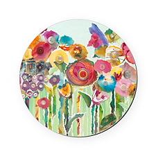 Flower Garden Cork Coaster