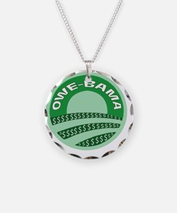 Green Obama Necklace