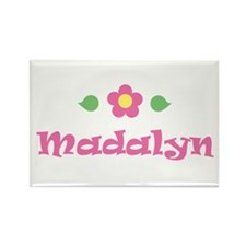 """Pink Daisy - """"Madalyn"""" Rectangle Magnet"""