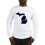 State of michigan Long Sleeve T-shirts