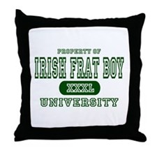 Irish Frat Boy University Throw Pillow