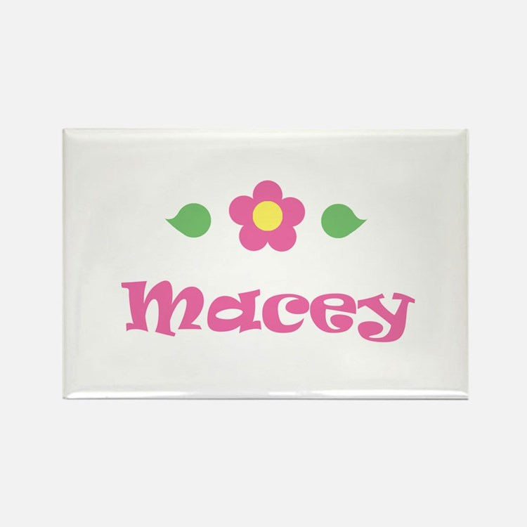 """Pink Daisy - """"Macey"""" Rectangle Magnet"""