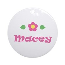 """Pink Daisy - """"Macey"""" Ornament (Round)"""