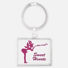 Fantasy Fairy Heart Kisses Landscape Keychain