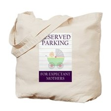 expectant mother parking Tote Bag