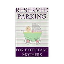 expectant mother parking Rectangle Magnet