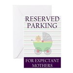 expectant mother parking Greeting Cards (Package o