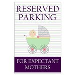 expectant mother parking Large Poster