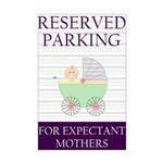 expectant mother parking Mini Poster Print
