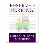 expectant mother parking Small Poster