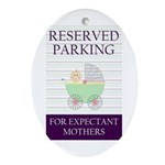 expectant mother parking Oval Ornament
